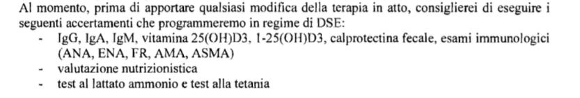 Gli esami che eseguirò in regime di Day service con il SSN a Pisa tra circa un mese.
