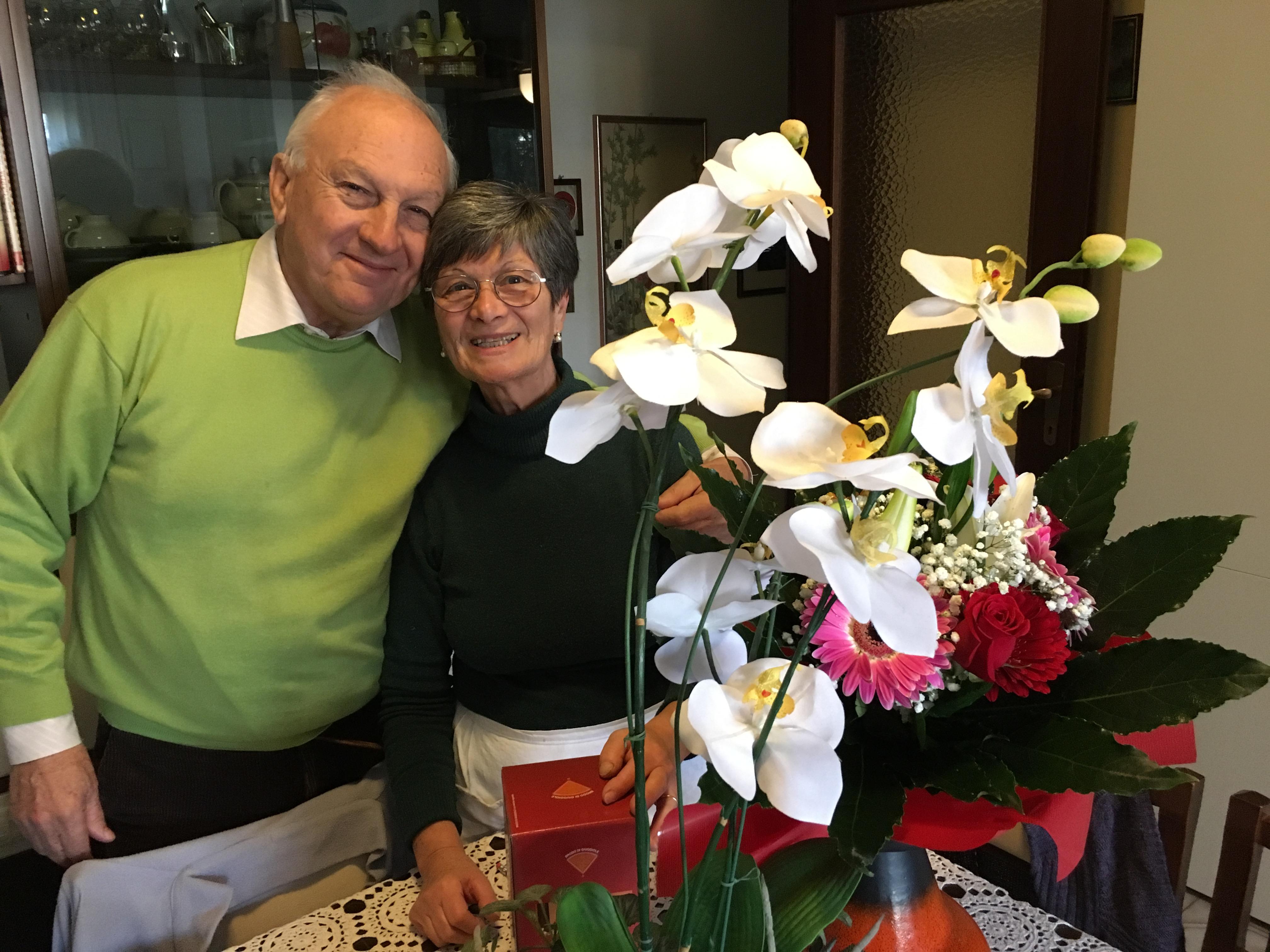 Papà e mamma a casa, il 6 dicembre 2016, 47 ennesimo anniversario del loro matrimonio.